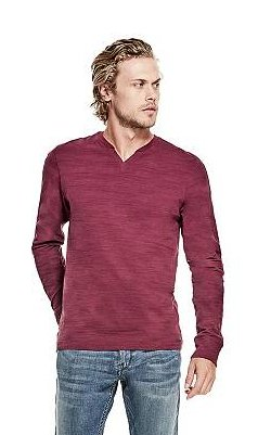 Guess STRIPED LONG-SLEEVE TEE