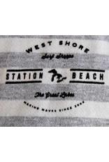 WEST SHORE WEST SHORE STATION BEACH STRIPED CREW