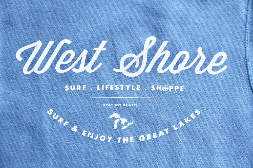 WEST SHORE RETO HEATHERED WEST SHORE HOODIE