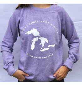 WEST SHORE THE GREAT LAKES CREW NECK SWEATSHIRT