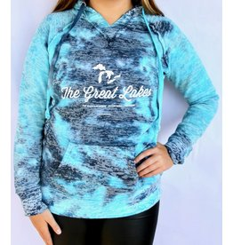 WEST SHORE GREAT LAKES  BURNOUT HOODIE