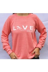 """WEST SHORE """" LOVE """" THE GREAT LAKES CREW NECK SWEATER"""