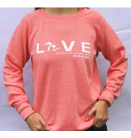 "WEST SHORE "" LOVE "" THE GREAT LAKES CREW NECK SWEATER"