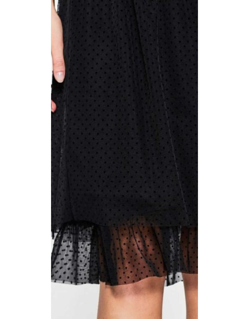 ESPRIT Tulle skirt with a polka dot pattern