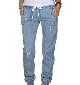 TEAMLTD Ladies Distressed Denim Joggers