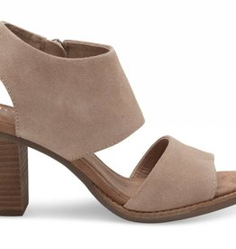TOM SHOES DESERT TAUPE SUEDE  MAJORCA CUTOUT SANDALS