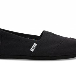 TOM SHOES BLACK ON BLACK  CANVAS CLASSICS