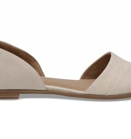 TOM SHOES BIRCH SUEDE NATURAL HEMP  JUTTI D'ORSAY FLATS