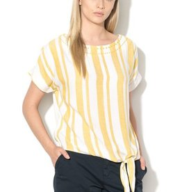ESPRIT Blouse with linen and knot detail