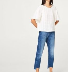 ESPRIT Boxy blouse with frilled sleeves