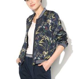 ESPRIT Silky bomber jacket with a palm tree print