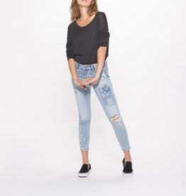 Silver Jeans AIKO ANKLE SKINNY MID RISE LIGHT WASH