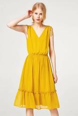 ESPRIT Midi dress in delicate crinkle chiffon