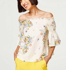 ESPRIT PRINTED OFF THE SHOULDER FLOWY TOP