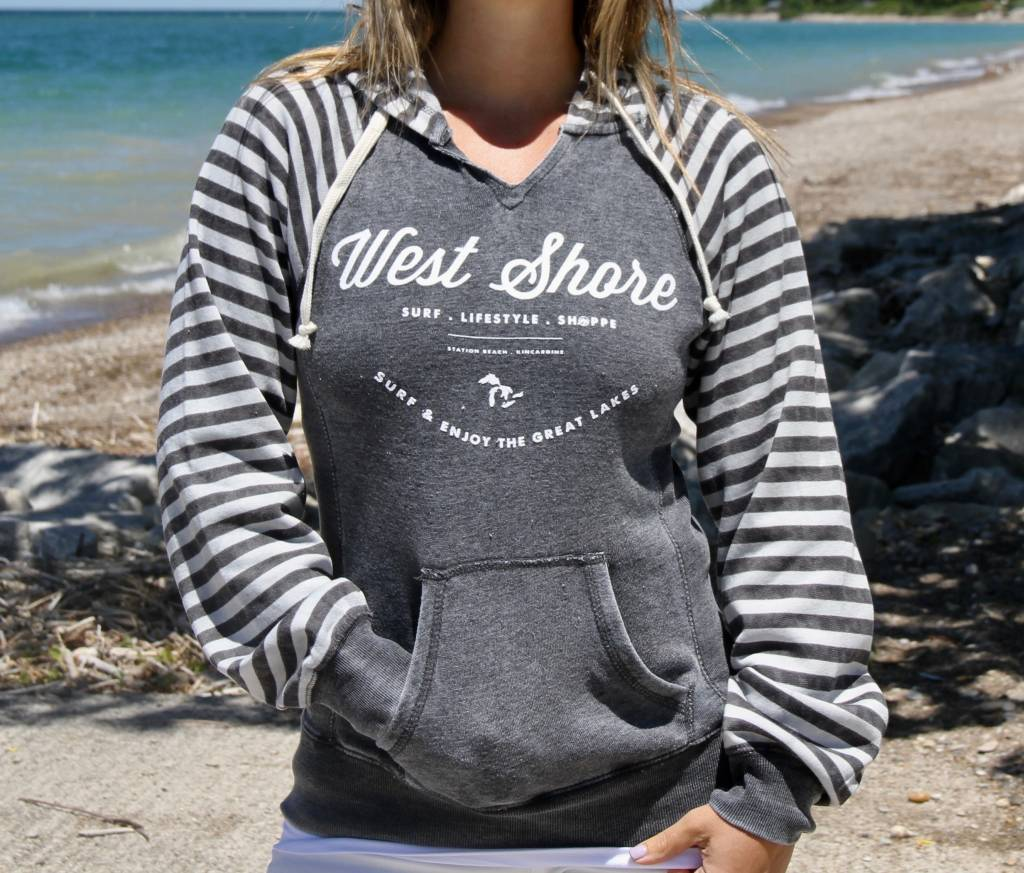WEST SHORE WEST SHORE STRIPPED HOODIE