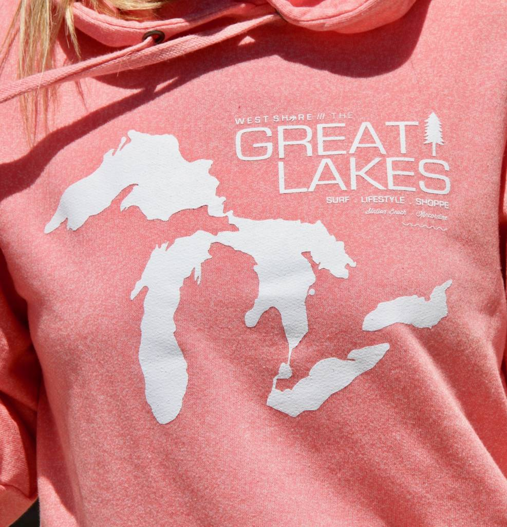 WEST SHORE GREAT LAKES MAP HOODIE