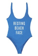 TBH Resting Beach Face Scoop Bathing Suit
