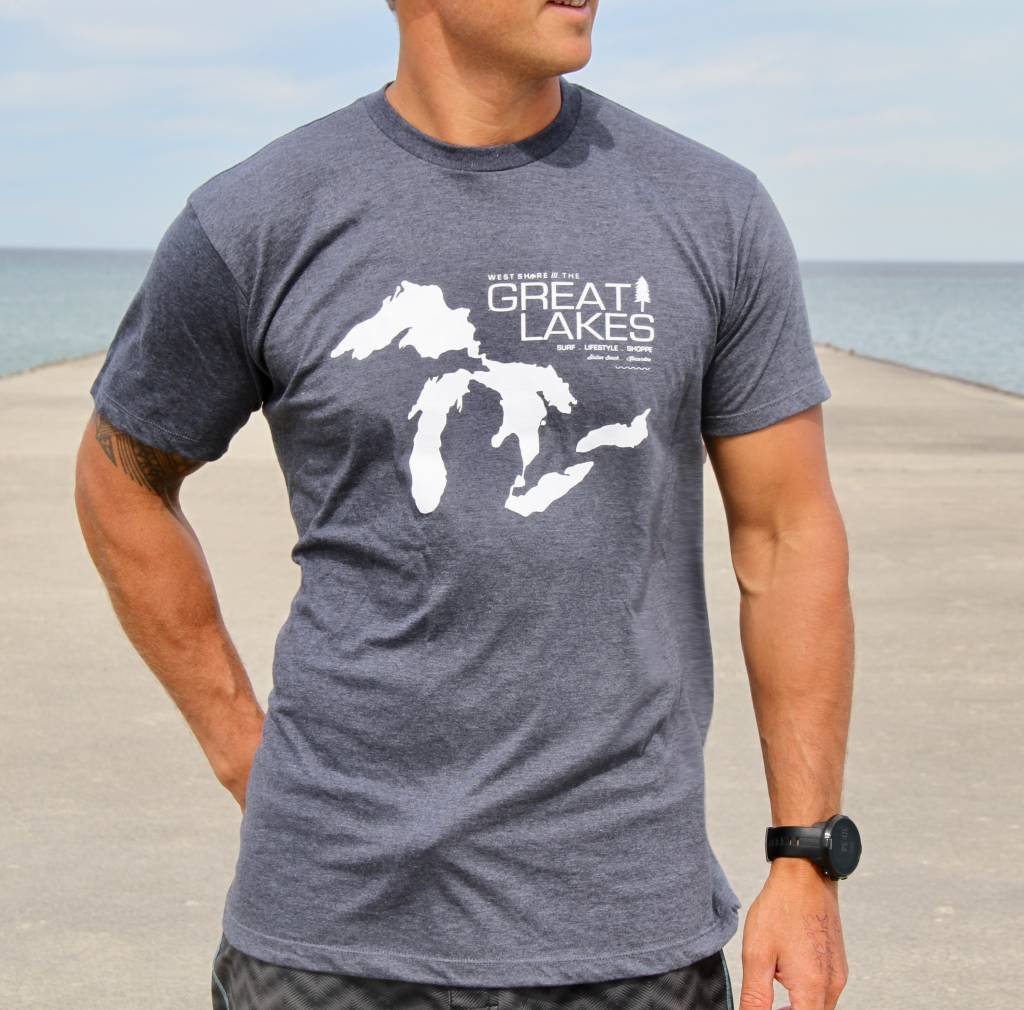 WEST SHORE WEST SHORES GREAT LAKES MAP TEE