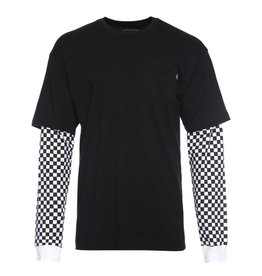 VANS Checker Sleeve Two-Fer T-Shirt