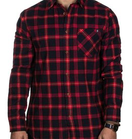 TEAMLTD Red/Navy Campfire Flannel