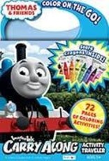 Thomas & Friends Imagine Ink 72 Page Traveler Activity Book Including 8 Jumbo Crayons