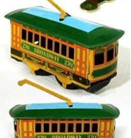 Broadway New York Trolley Tin Wind Up