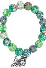 Fimo Bead Train Bracelet