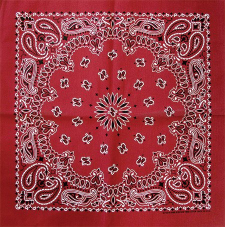 "Bandana, Red 22"" Square"