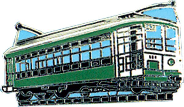 Green Trolley Hat Tac (pin)