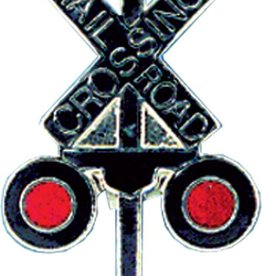 Hat Tack, RR Crossing (Larger Pin) X SHAPE