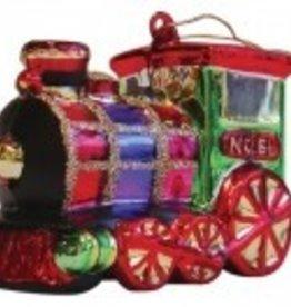 Glass Train Ornament