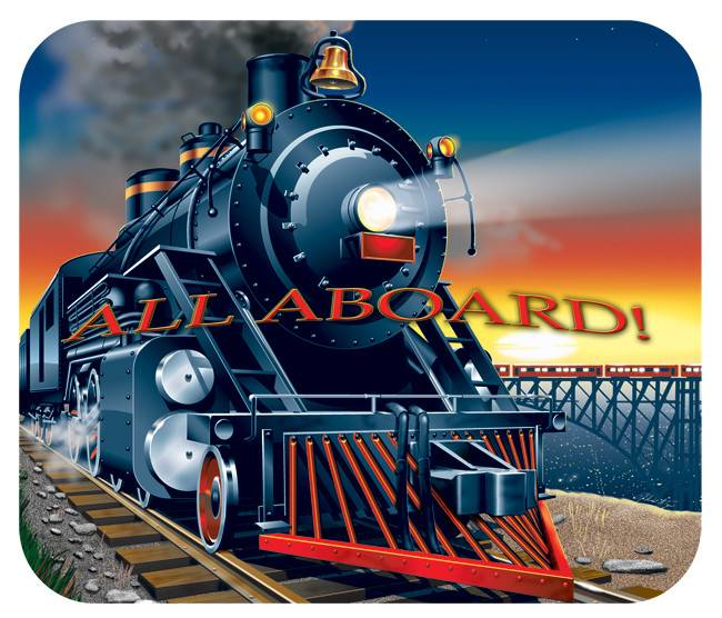 All Aboard Mouse Pad