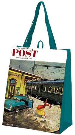 Saturday Evening Post Forgot His Briefcase Eco Bag