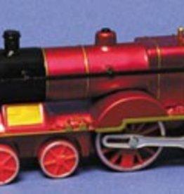 Classic Train Pull Back Black, Red, Blue
