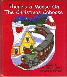 Moose on a Christmas Caboose