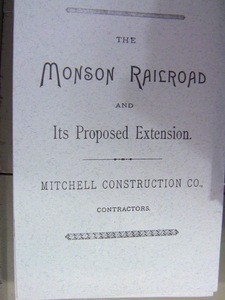 Monson Railroad and Its Proposed Extension