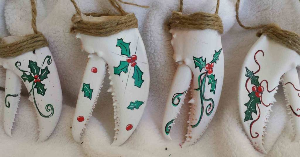 Christmas Claws Ornaments w/ Custom STM on back