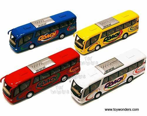 "Coach Bus 7""  Red White Blue Yellow ""COACH"""