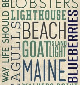Kennebunkport Post Card - Typography