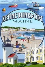 Kennebunkport Post Card - Montage Single