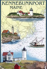Kennebunkport Note Card - Nautical