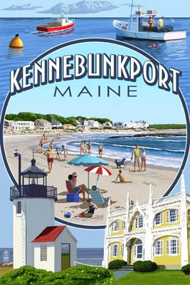 Kennebunkport Tote Bag - Montage