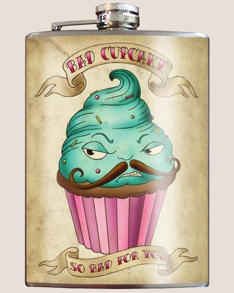 Bad Cupcake Flask