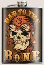 Bad to the Bone Flask
