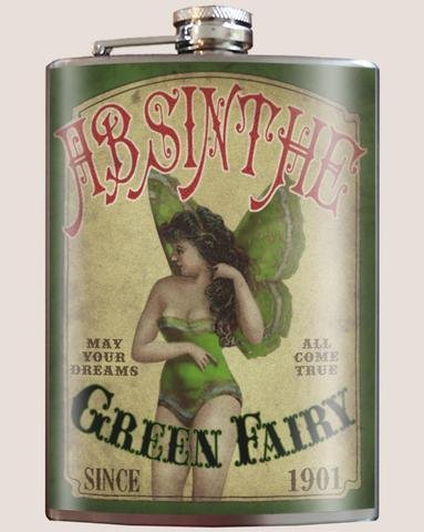 Green Fairy Flask
