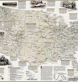 National Geographic Railroad Legacy Map