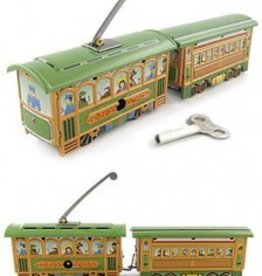 CHRISTMAS TROLLEY TRAIN GREEN SET 1890