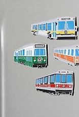 MBTA Magnet Red-Green-Orange-Yellow