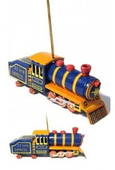 Blue Train Ornament