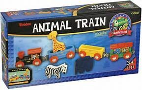 Li'l Chugs Animal Train - Wooden
